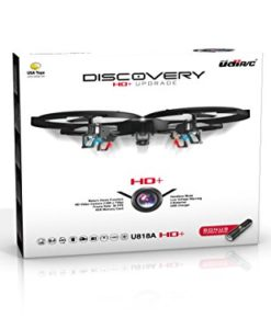 Latest-UDI-818A-HD-RC-Quadcopter-Drone-with-HD-Camera-Return-Home-Function-and-Headless-Mode-24GHz-4-CH-6-Axis-Gyro-RTF-Includes-BONUS-BATTERY-POWER-BANK-Quadruples-Flying-Time-USA-TOYZ-EXCLUSIVE-0