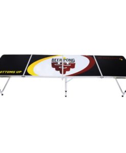HomCom-8-Portable-Aluminum-Tailgate-Beer-Pong-Table-0