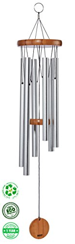 Wind-Chimes-for-Garden-Patio-Terrace-Balcony-Sand-Blasted-Aluminum-Tubes-Size-28-Medium-0