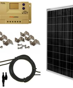 WindyNation-200-Watt-2pcs-100-Watt-Solar-Panel-Complete-Off-Grid-RV-Boat-Kit-with-LCD-PWM-Charge-Controller-Solar-Cable-MC4-Connectors-Mounting-Brackets-0