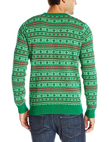 Alex Stevens Men's Circle Of Life Ugly Christmas Sweater ...