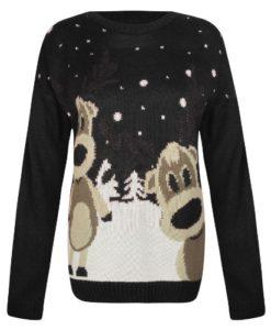 OutofGas-Clothing-Womens-Santa-Reindeer-Penguin-Snowman-Jumper-Sweater-0