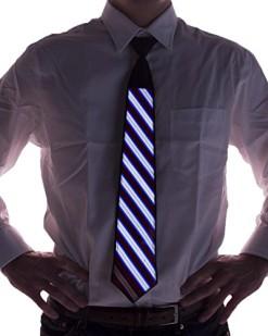 Striped-Sound-Activated-Light-Up-Necktie-0