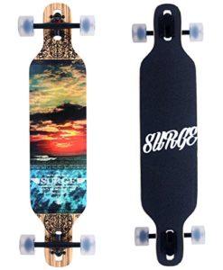 Brand-New-Cruiser-Through-Longboard-95x42-Sugar-maple-Muti-colour-Deck-0