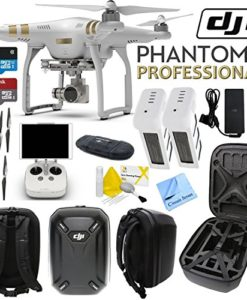 DJI-Phantom-3-Professional-Quadcopter-Drone-with-4K-UHD-Video-Camera-w-CS-Hard-Shell-Case-and-Spare-Battery-Bundle-0