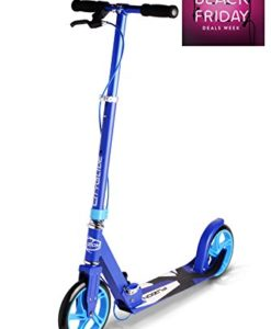 Fuzion-Cityglide-B200-Adult-Kick-Scooter-w-Hand-brake-220lb-Weight-Limit-Folds-Down-Adjustable-Handle-Bars-Smooth-Fast-Ride-0