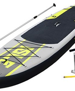 ISLE-Airtech-11-Inflatable-Stand-Up-Paddle-Board-6-Thick-2-Year-Warranty-On-Materials-Supports-Riders-up-to-215-Pounds-iSUP-Designed-for-the-Outdoor-Enthusiast-with-Multiple-Bungee-Systems-Durable-Car-0