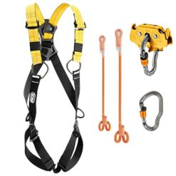 Professional-Zipline-Kit-with-Full-Body-Harness-and-Dual-Ball-Bearing-Pulley-0