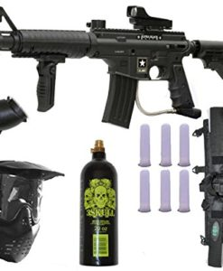 US-Army-Alpha-Black-Elite-Paintball-Marker-Gun-3Skull-Deluxe-Package-Set-0