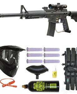 US-Army-Alpha-Black-Elite-Paintball-Marker-Gun-3Skull-Ultimate-Mega-Set-0