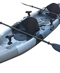 Useful-UH-TK181-125-foot-Grey-Camo-Sit-On-Top-Tandem-Fishing-Kayak-Paddles-and-Seats-included-0