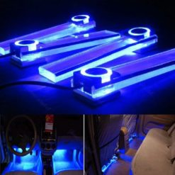 Zone-Tech-4in1-12V-Car-Auto-Interior-LED-Atmosphere-Lights-Floor-Decoration-Lamp-Blue-0