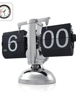 niceeshopTM-Retro-Flip-Down-Clock-Internal-Gear-Operated-0