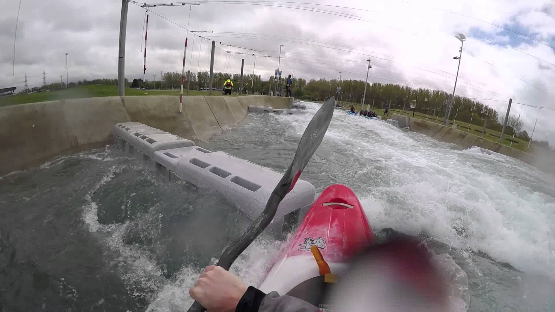 Kayaking Sprint Run down Lee Valley Olympic Course