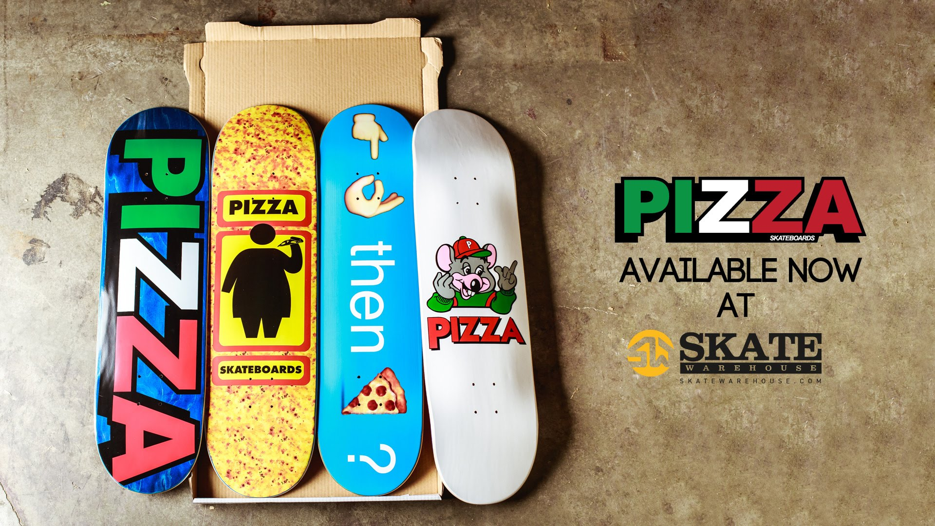 Skate Warehouse Delivers Pizza Skateboards!