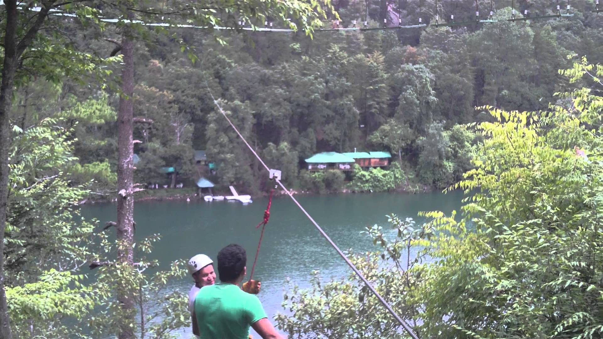Zip line in Lake Zirahuen