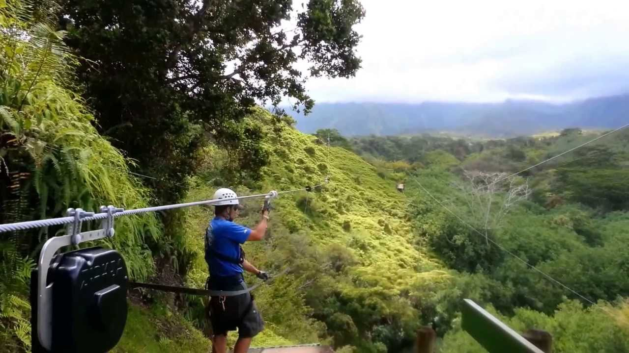 Zip-line @ Kauai Backcountry Adventures, May 2013