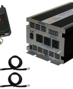 Complete 400 Watt Solar Panel Kit with 1500 Watt VertaMax Power Inverter for RV, Boat, Off-Grid 12 Volt Battery Systems