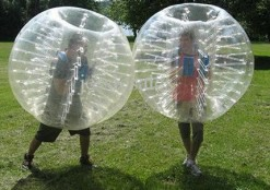 HolleywebTM Bubble Soccer Ball Suit Dia 5' (1.5m) Inflatable Body Zorbing Bumper Ball Game (2 Balls Package)