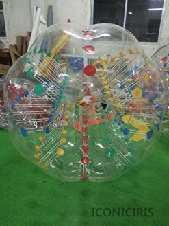 Free Shipping Inflatable Bumper Bubble Balls Body Zorb Ball Soccer Bumper Football 1.5m Transparency with Colorful Dot
