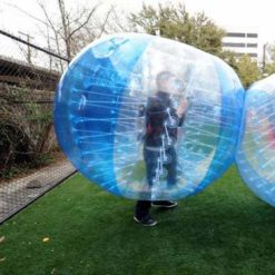 HolleywebTM Bubble Soccer Ball Blue with Clear Dia 5' (1.5m) Human Inflatable Bumper Bubble Balls