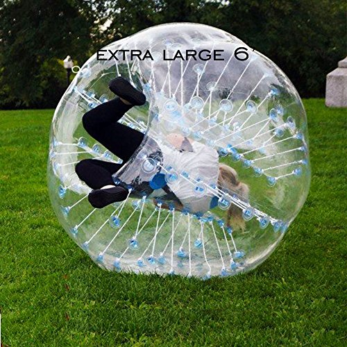 HolleywebTM Extra Large 6′ Bubble Soccer Suits Ball for Bubble Football Bumper Ball Zorb Football