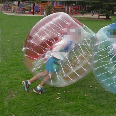 HolleywebTM Red Clear Bubble Football Suits Kids Size 1.2 Meter 4ft Bubble Football Equipment for Bubble Soccer