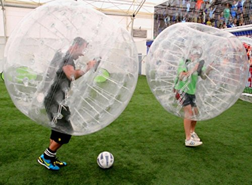 HolleywebTM Bubble Soccer Ball Suit Dia 5′ (1.5m) Inflatable Body Zorbing Bumper Ball Game (2 Balls Package)