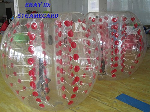 QJ Body Zorbing Ball Zorb Ball Bumper Ball Inflatable Ball Soccer Bubble PVC 1 5M ,colour:Red Dot