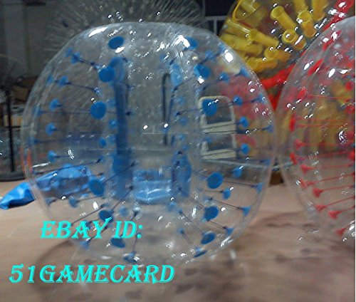 QJ Body Zorbing Ball Zorb Ball Bumper Ball Inflatable Ball Soccer Bubble PVC 1 5M ,colour:Blue Dot
