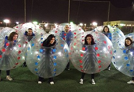 HolleywebTM 6 Balls Package Bubble Soccer Ball Suit Dia 5' (1.5m) Inflatable Body Zorbing Bumper Ball Game for Adults