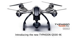 Typhoon Q500 4K Quadcopter with 4K UHD, 1080P 120FPS HD / 12.4MP CGO3 No Distorsion Lens, 3-Axis Gimbal and ST10  Large Touch Screen Display 5.5 (inches)   16GB microSD