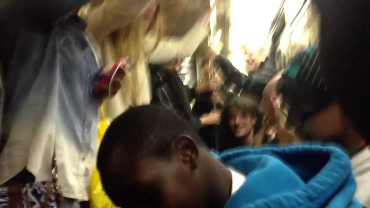 Amazing people singing along with us in the train