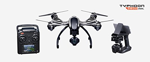 Typhoon Q500 4K Quadcopter with 4K UHD, 1080P 120FPS HD / 12.4MP CGO3 No Distorsion Lens, 3-Axis Gimbal and ST10+ Large Touch Screen Display 5.5 (inches) + 16GB microSD