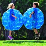 Buddy Bounce Outdoor Play Ball, Inflatable – Blue – 36″ diam.