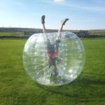 HolleywebTM 4 Balls Package Bubble Soccer Ball Suit Dia 5′ (1.5m) Inflatable Body Zorbing Bumper Ball Game for Adults