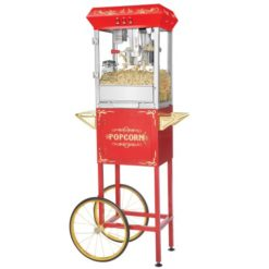 Great-Northern-Popcorn-6097-8-OZ-Foundation-Red-Full-Antique-Style-Popcorn-Popper-Machine-Complete-with-Cart-and-8-Ounce-Kettle-0