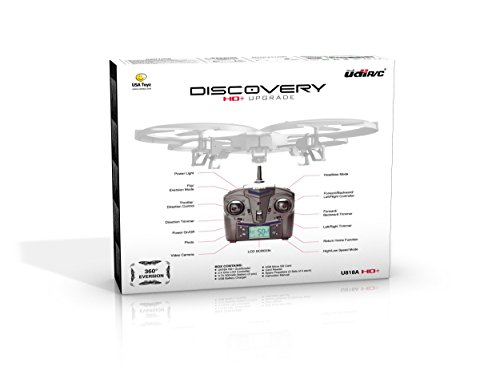 Latest-UDI-818A-HD-RC-Quadcopter-Drone-with-HD-Camera-Return-Home-Function-and-Headless-Mode-24GHz-4-CH-6-Axis-Gyro-RTF-Includes-BONUS-BATTERY-POWER-BANK-Quadruples-Flying-Time-USA-TOYZ-EXCLUSIVE-0-5