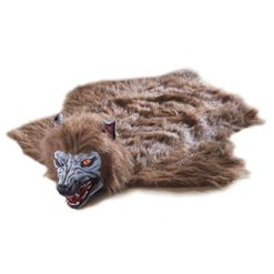 Animated-Lifelike-Werewolf-Rug-for-Halloween-Howls-and-Eyes-Glow-Red-When-You-Step-on-its-fur-0