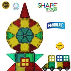 Award-Winning-Magnetic-Stick-N-Stack-154-pcs-MEGA-Set-Includes-2-Wheel-Bases-Windows-Porches-view-all-photos-0