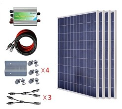 ECO-WORTHY-400w-Watts-Poly-Complete-Kit-4pcs-100W-Solar-Panels-Module-30A-PWM-Charge-Controller-30Ft-Solar-Cable-with-MC4-Connectors-Z-Mounting-Brackets-Y-Branch-MC4-Connectors-0