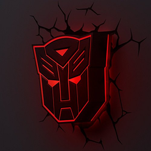Hasbro Transformers 3D Deco Light Fx Autobot Shield Led Wall