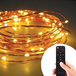 Homestarry-Copper-Wire-String-Lights-20Ft-120-LEDs-Warm-White-Remote-Control-Perfect-for-Indoor-and-Outdoor-Environments-Remote-Control-Feature-Easily-Regulates-Your-Lighting-100-Satisfaction-Guarante-0