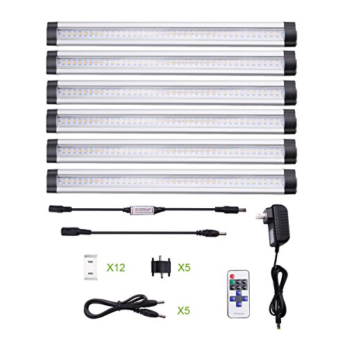 LE® Dimmable LED Under Cabinet Lighting, 6 Panel Kit, 24W Total ...