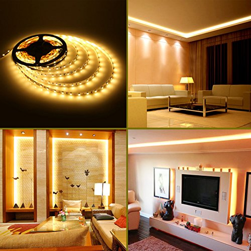Le 12v flexible led strip lights kit led tape 3000k warm white le 12v flexible led strip lights kit led tape 3000k warm white 300 units smd 3528 leds 73 lumensft non waterproof 12 volt led light strips aloadofball Image collections