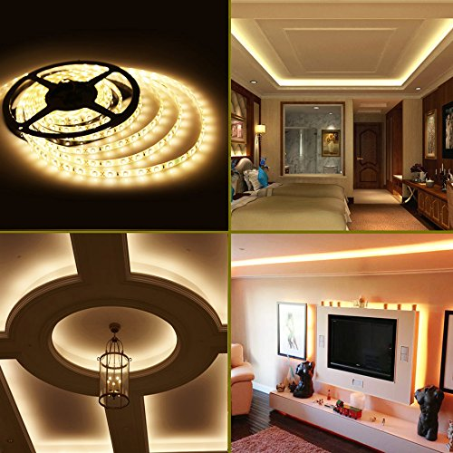 Le 164ft waterproof flexible led strip lights 300 units smd le 164ft waterproof flexible led strip lights 300 units smd 3528 leds 12v led light strips 3000k warm white 91 lumensft 15 wattsft led tape mozeypictures Gallery