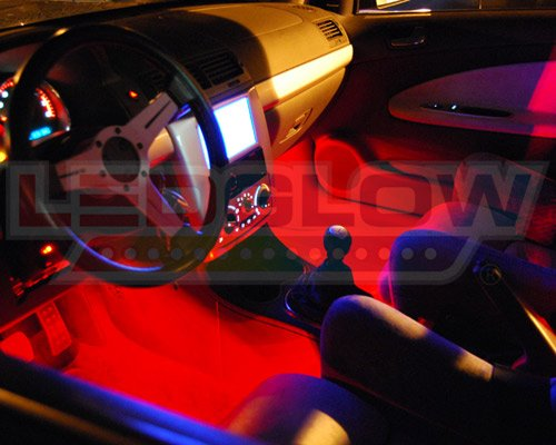 Ledglow 4 Piece 7 Color Led Interior Underdash Lighting Kit