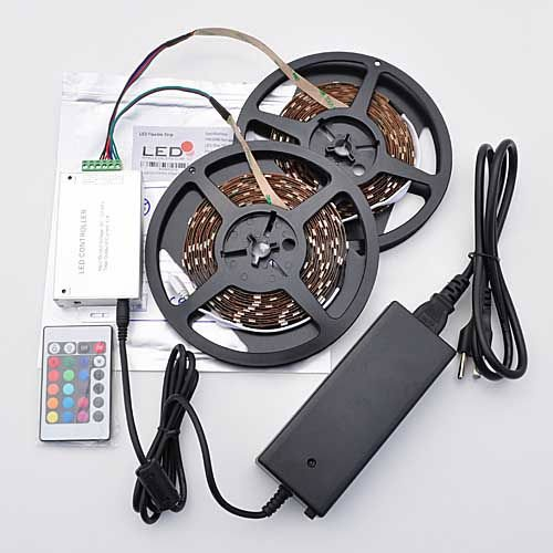 LEDwholesalers-328ft-RGB-Color-Changing-LED-Strip-Kit-with-IR-Controller-and-Power-Supply-2034RGBx2-3312-3224-0