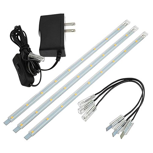 LEDwholesalers-Linkable-Under-Cabinet-Light-Set-of-3x-10-inch-LED-Strips-1977WW-0