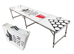 NEW-8-BEER-PONG-TABLE-ALUMINUM-PORTABLE-ADJUSTABLE-FOLDING-INDOOR-OUTDOOR-TAILGATE-PARTY-GAME-KEEP-CALM-AND-PONG-ON-9-0